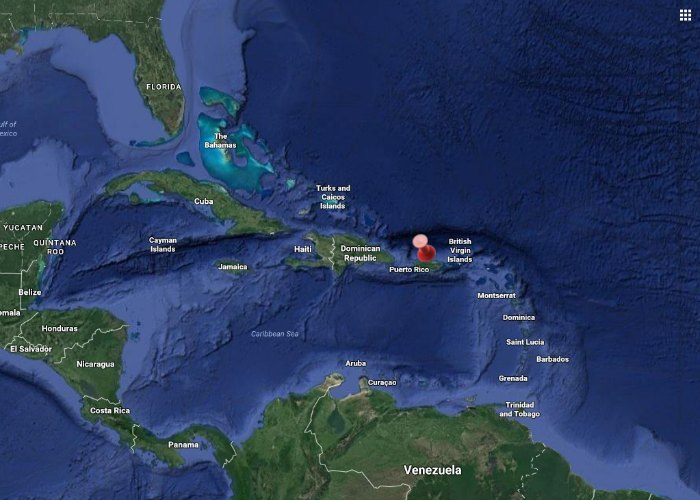 Where is Puerto Rico on the map