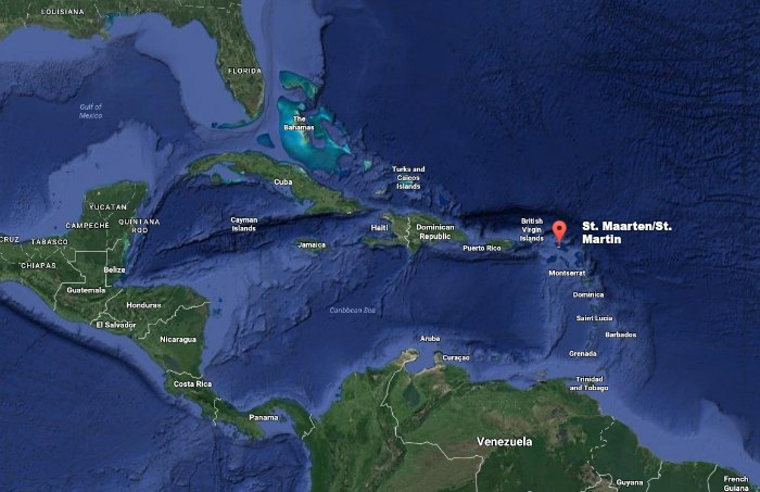 Where is St. Martin / St. Maarten on the map