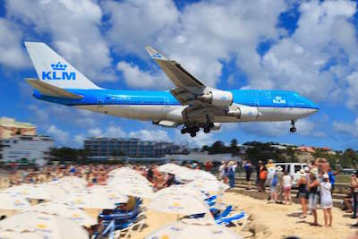 Airplane Spotting on Maho Beach