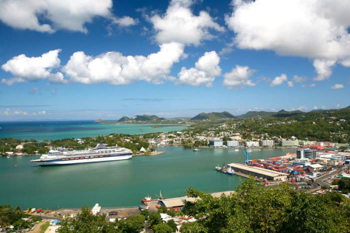 Castries - capital of St. Lucia