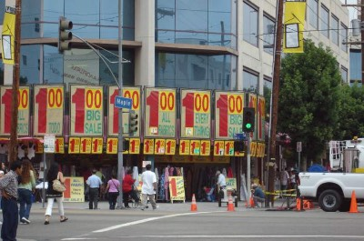 Fashion District in Los Angeles