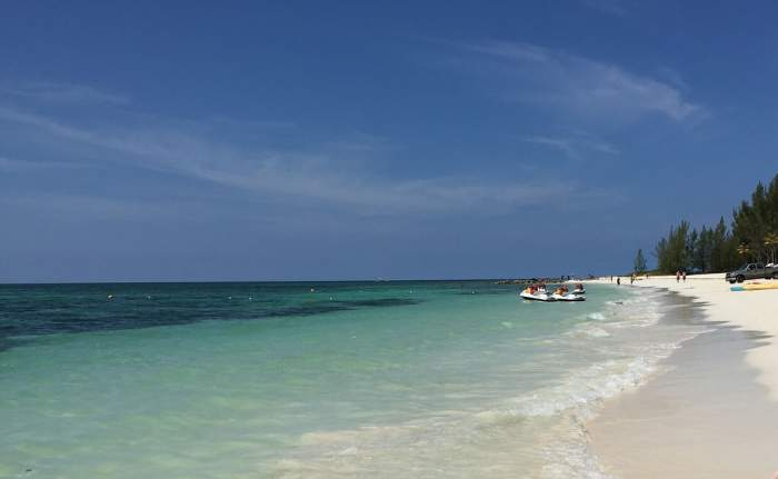 Beach in Freeport, Bahamas