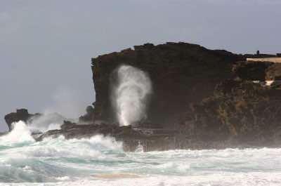 Halona Blowhole in Honolulu