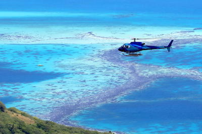 Helicopter tours in Bora Bora