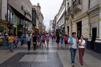Jiron de la Union in Lima