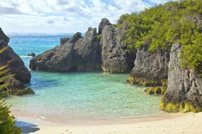 Jobson's Cove Beach in Bermuda