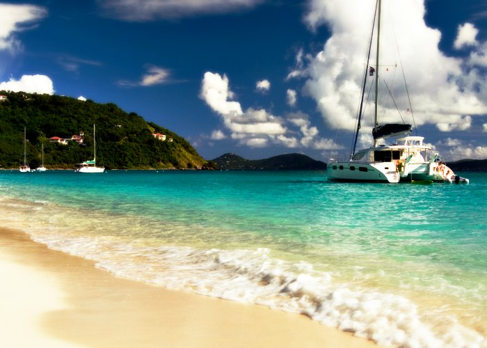 Jost Van dyke island in British Virgin Islands