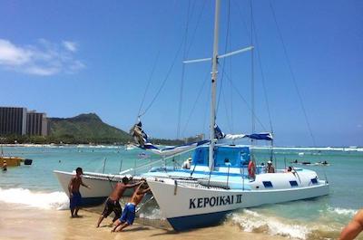 Kepoikai Catamaran Charter in Oahu