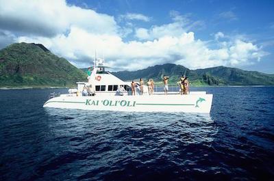 Oahu Catamaran Cruise: Wildlife, Snorkeling and Hawaiian Buffet