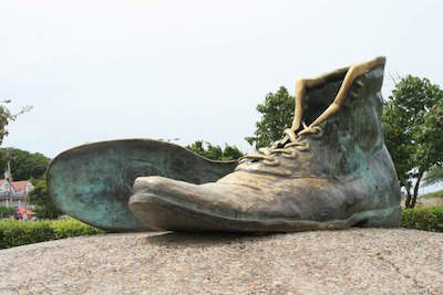 Old Shoes Monument in Cartagena