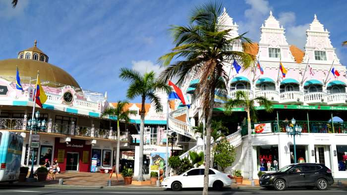 Oranjestad - capital city of Aruba
