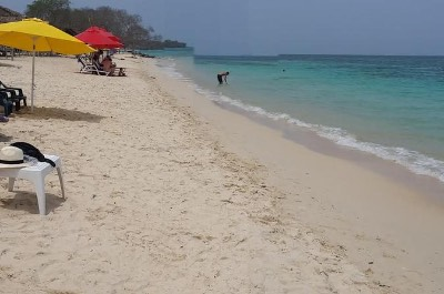 Playa Blanca on Baru Island in Cartagena