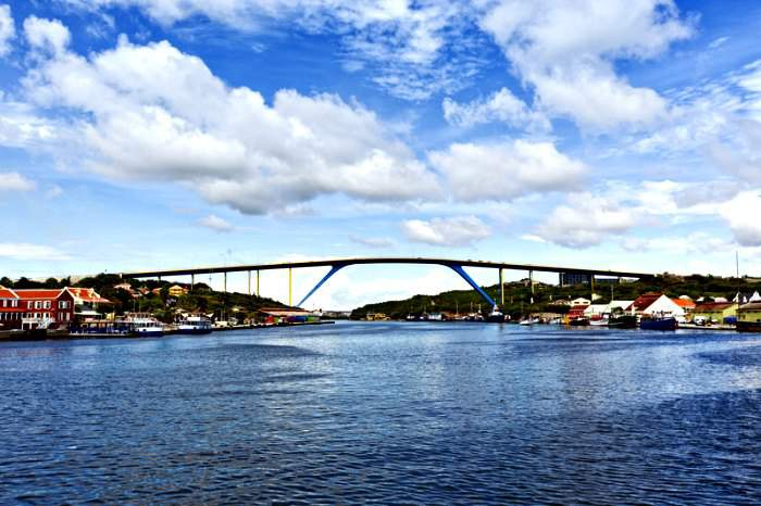 Queen Juliana bridge in Curacao