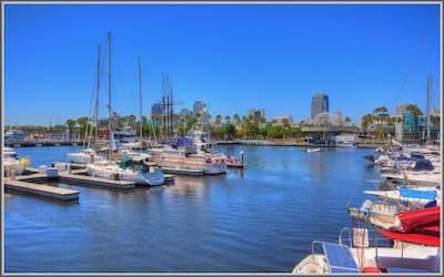 Rainbow Harbor in Long Beach