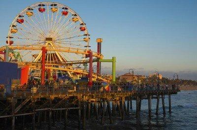 Santa Monica  Beach and Pier in Los Angeles