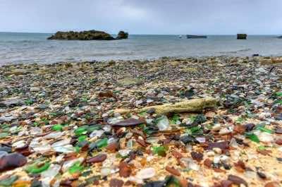 Sea Glass Beach in Bermuda