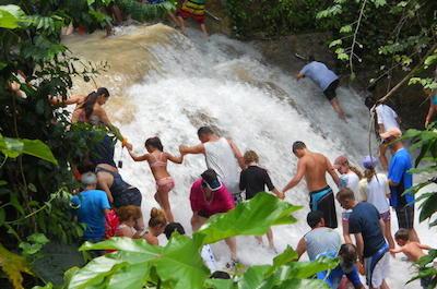 Montego Bay Shore Excursion: Blue Hole and Dunn's River Falls Tour