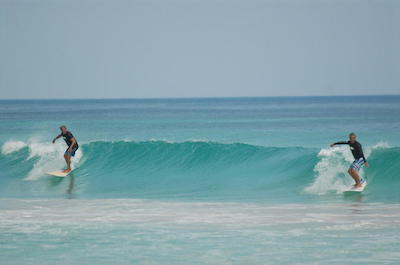 Surfing in Punta Cana