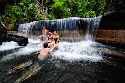 Tabacon hot springs in Arenal