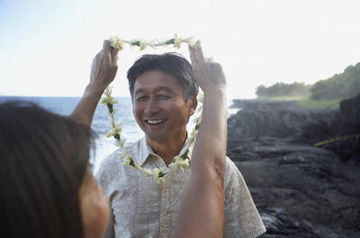 Traditional Lei Greeting on O'ahu