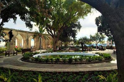 Upper Barrakka Gardens in Malta