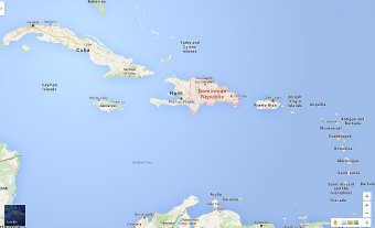 Where is Dominican Republic - Close Up