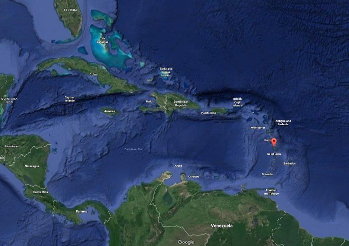 where is Martinique on the map