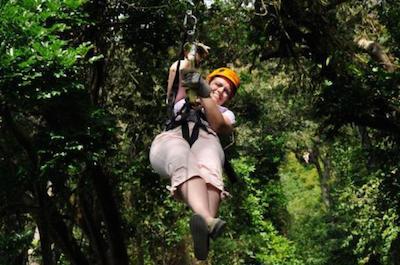 Zip 'n' Dip Canopy Tour in Roatan