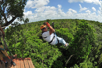 Ziplines in Cancun