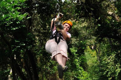 Zip 'n' Dip Canopy Tour in Roatan